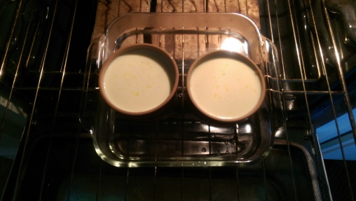 flan ready for oven