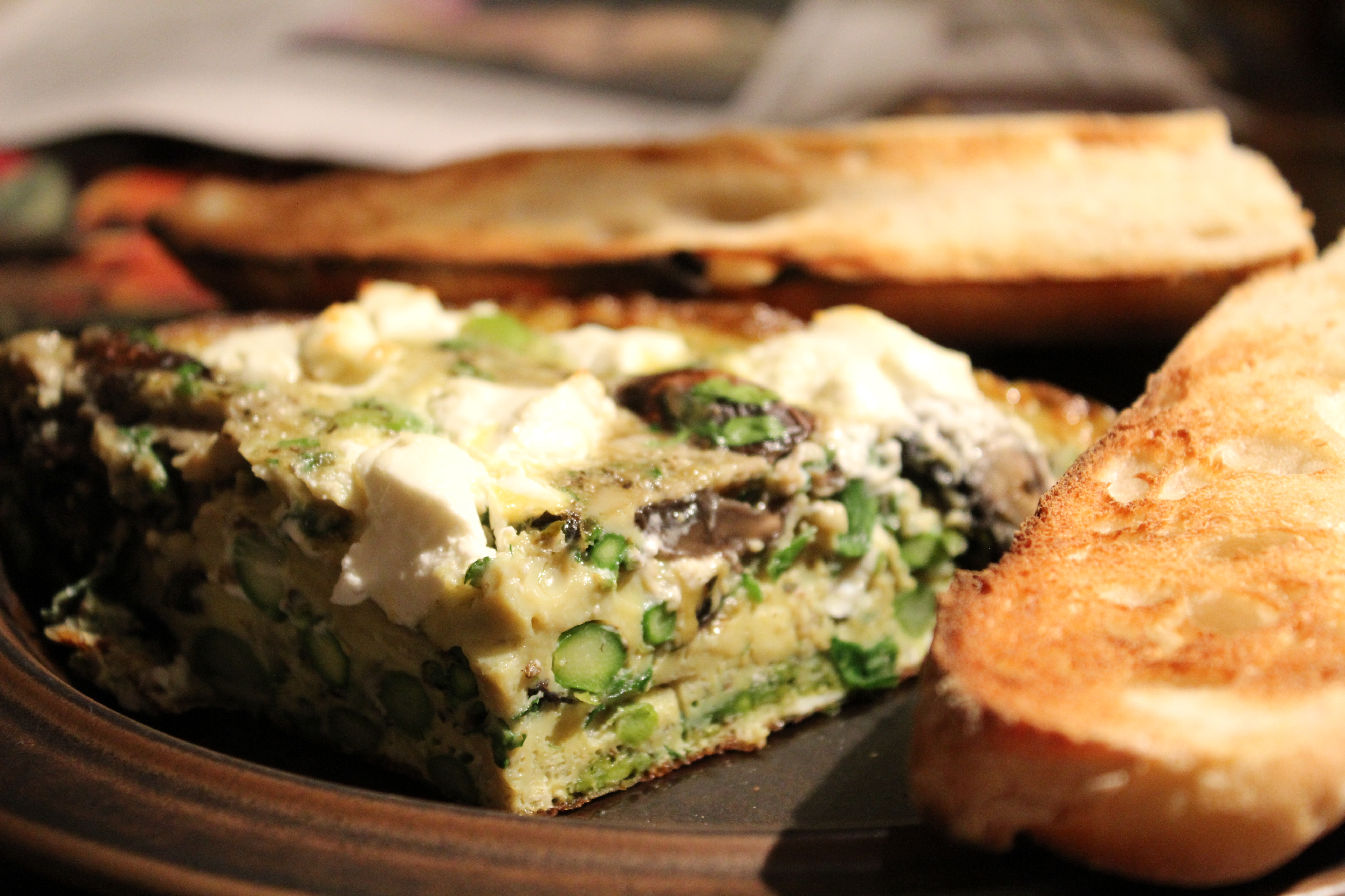 Asparagus and Mushroom Frittata with Goat Cheese | Lisa and Frances ...