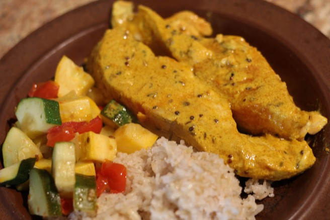 Salmon in Bengali Mustard Sauce | Lisa and Frances Cook